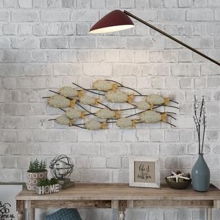 "The Gray Barn Metal Fish Wall Decor - 16.5""H x 43""W x 2""D"