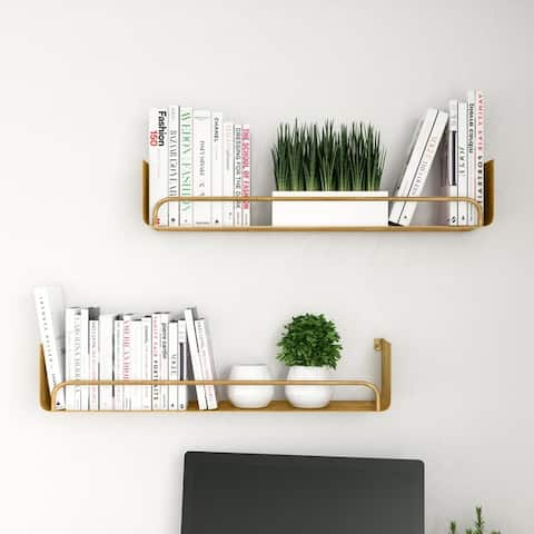 "Carson Carrington Lacktorp Modern Wall Shelf (Set of 2) - 5.5""H x 28""W x 5.5""D"