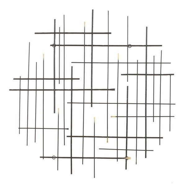 "Carson Carrington Idakra Modern Metal Wall Decor - 28""H x 28""W x 1.5""D"