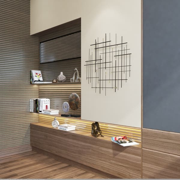 Carson Carrington Idakra Modern Metal Wall Decor 28 H