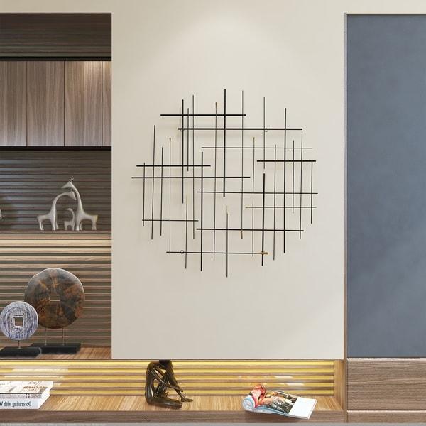 "Carson Carrington Idakra Modern Metal Wall Decor - 28""H x 28""W x 1.5""D. Opens flyout."