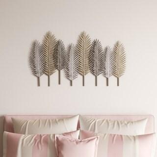 Elwyn Metal Leaf Wall Decor - N/A