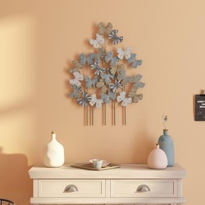 """Deja Metal Flower Wall Decor - 32""""H x 24""""W x 1.5""""D"""