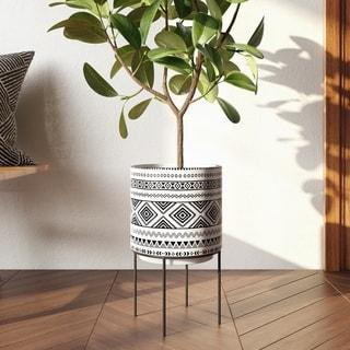 Mateo Modern Ceramic Planter - N/A