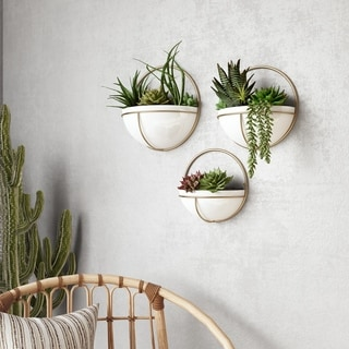 Isley Modern Wall Planters (Set of 3) - N/A