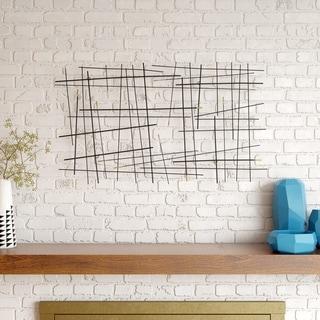 "Link to Carson Carrington Juoksengi Modern Metal Wall Decor - 24.5""H x 42.5""W x 1.5""D Similar Items in Wall Sculptures"