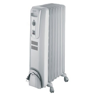 DeLonghi TRH0715 Light Grey 1500-watt Safeheat Basic Portable Oil-Filled Radiator