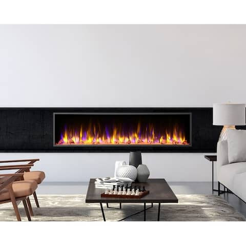 Dynasty Fireplaces Harmony 64 in. LED Wall Mounted Electric Fireplace
