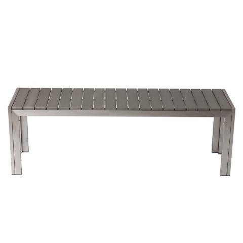Salt Meadows Grey Bench by Havenside Home