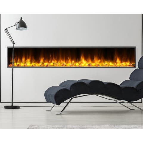 Dynasty Fireplaces Harmony 80 in. LED Wall Mounted Electric Fireplace