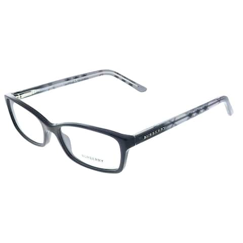 Burberry BE 2073 3164 53mm Unisex Black Frame Eyeglasses 53mm