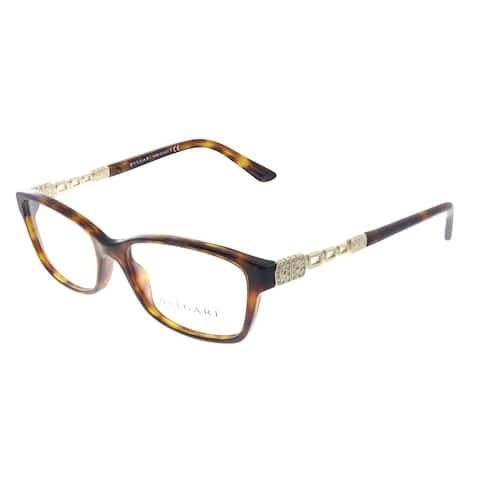 Bvlgari BV 4061B 851 52mm Womens Dark Havana Frame Eyeglasses 54mm