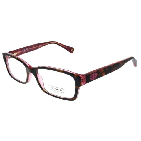 Coach HC 6040 5115 52mm Womens Tortoise Pink Frame Eyeglasses 52mm