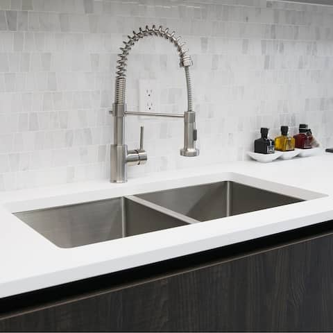 Pull Down Kitchen Faucet Brushed Nickel