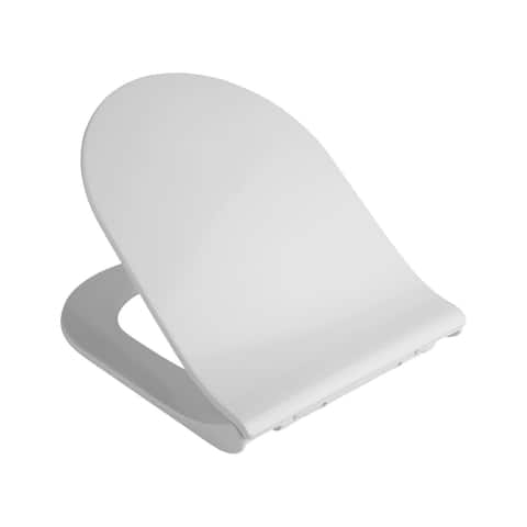 Homdox Toilet Seat with Cover U/O Shape Soft Close Quick Release Easy Cleaning