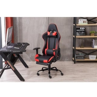Comfortable High Back Swivel Racing Gaming Chair Office Chair with Footrest Tier