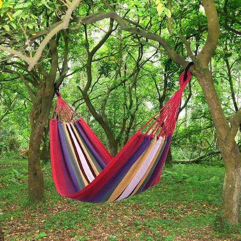 200*80cm Portable Polyester & Cotton Hammock 2 Colors