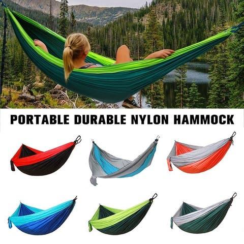 Outdoor Camping Hammock Double Person Brazilian Nylon Hammock Leisure Travel Portable Durable - 106 * 55 inch