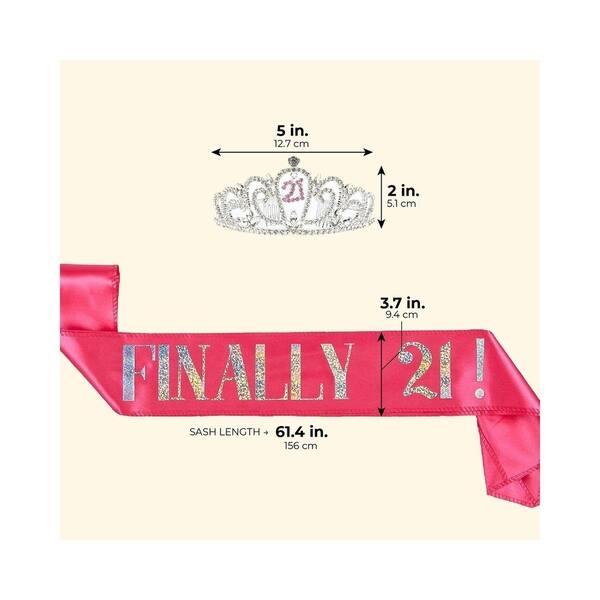 Shop 2pcs Set Of 21st Birthday Finally 21 Girl Sash And