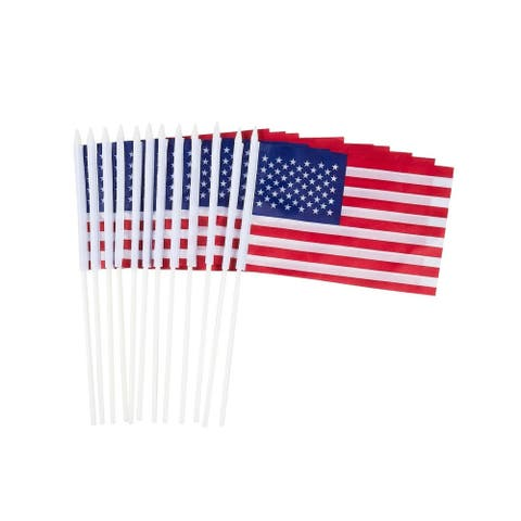 """12x USA Mini Flag Small United States Stick American Flag For Election Day 12.1"""""""
