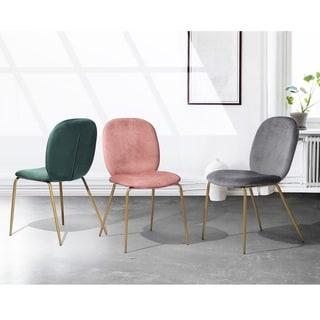 Silver Orchid Bergen Velvet Living Room Side Chair (Set of 2)