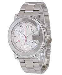 Gucci 101G Men's  Silver Dial Steel Chronograph Watch