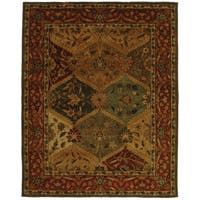 "Safavieh Handmade Heritage Traditional Kerman Burgundy Wool Rug - 7'6"" x 9'6"""