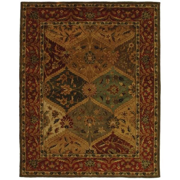 Safavieh Handmade Heritage Traditional Kerman Burgundy Wool Rug - 7'6 x 9'6