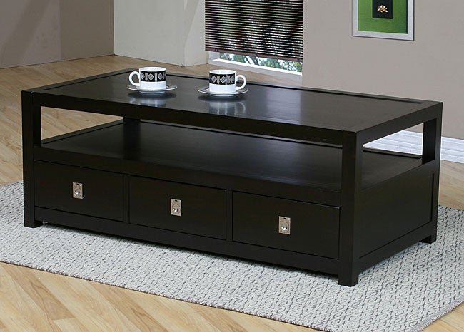 Norwich three drawer coffee table free shipping today for Coffee tables norwich