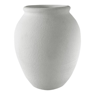 Aurelle Home Grey Textured Ceramic Modern Vase