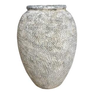 Aurelle Home Grey Rustic Cemet Textured Vase