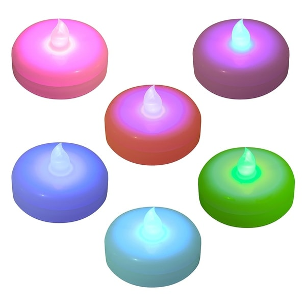 Color Changing Battery Operated Floating LED Candles, Set of 6