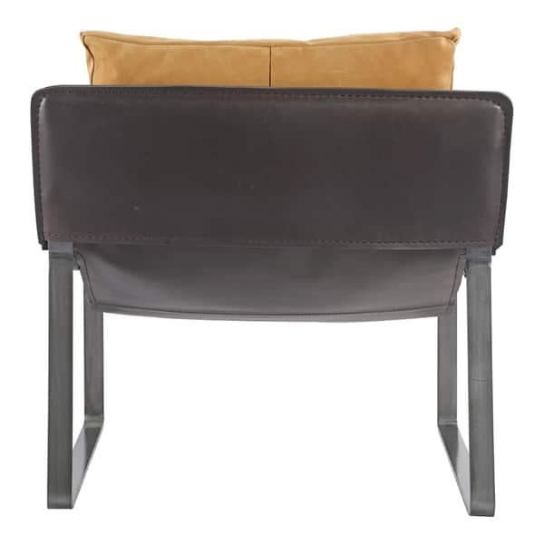 Fabulous Shop Aurelle Home Tan Modern Distressed Leather Club Chair Camellatalisay Diy Chair Ideas Camellatalisaycom