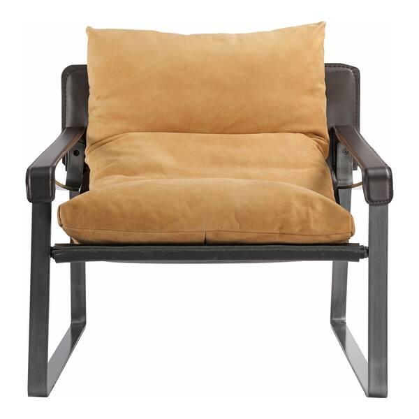 Magnificent Shop Aurelle Home Tan Modern Distressed Leather Club Chair Camellatalisay Diy Chair Ideas Camellatalisaycom