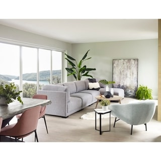 Link to Aurelle Home Ramon Modular Sectional Piece - Slipper Chair Similar Items in Living Room Furniture