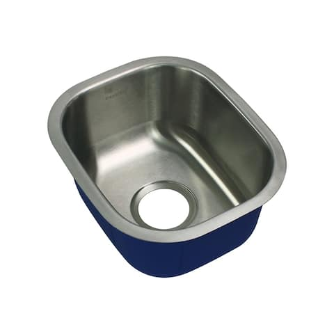 """Transolid Meridian 15-in Single Basin Undermount Stainless Steel Bar Sink - Stainless Steel - 12.63"""" x 15"""" x 7"""""""