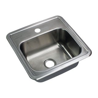 Transolid Select 15-in Single Basin Drop-in Stainless Steel Bar Sink
