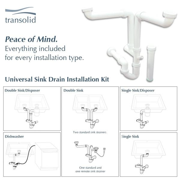 Shop Transolid Meridian Stainless Steel 15 In Undermount Kitchen Sink Kit With With Grid Strainer Installation Kit Overstock 29056891