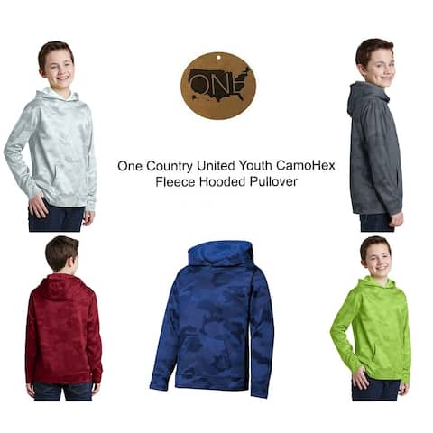 One Country United Youth CamoHex Fleece Hooded Pullover