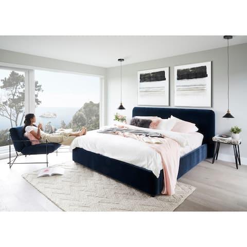 Aurelle Home Modern Upholstered King Bed