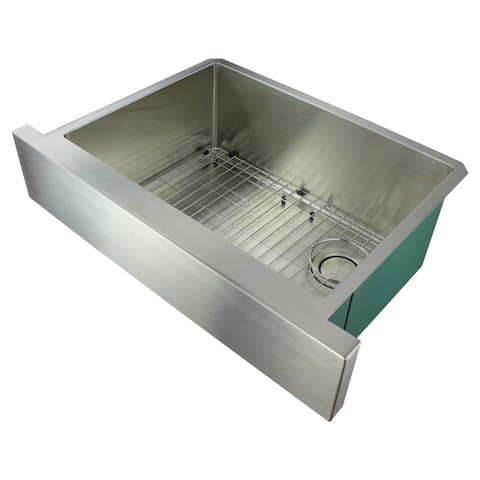 "Transolid Diamond 30-in 16 Gauge Undermount Single Bowl Farmhouse Kitchen Sink - 20.25"" X 29.88"" X 10"""