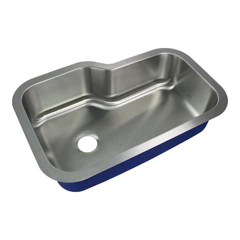 "Transolid Meridian Stainless Steel 33-in Undermount Kitchen Sink - 22"" X 33"" X 9"""
