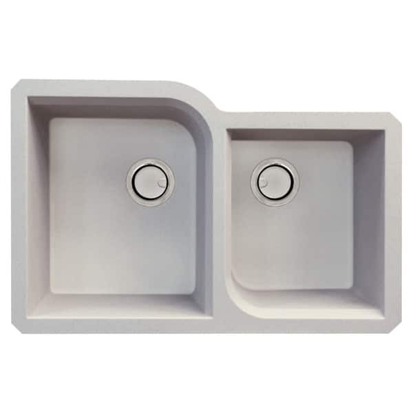 Transolid Radius Granite 31 In Undermount Kitchen Sink Kit With Grids Strainers And Drain Installation Kit Overstock 29057060