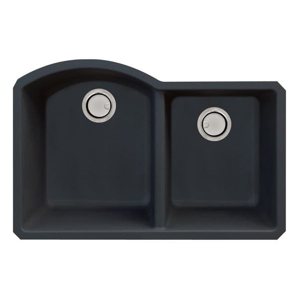 Transolid Aversa Granite 31 In Kitchen Sink Kit With Grids Strainers And Drain Installation Kit On Sale Overstock 29057066