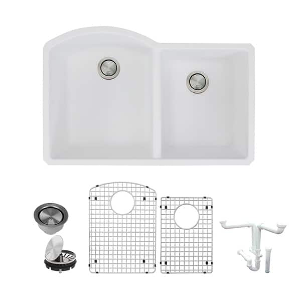 Shop Transolid Aversa Granite 31-in Kitchen Sink Kit with ...