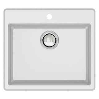 Transolid Quantum 22-in silQ Granite Drop-in Single Bowl Kitchen Sink