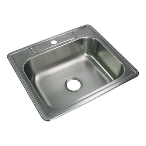 Transolid Select 25-in 22 Gauge Drop-in Single Bowl Kitchen Sink