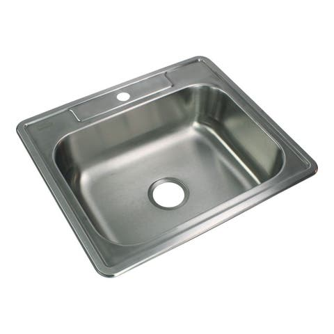 Transolid Select 25-in 20 Gauge Drop-in Single Bowl Kitchen Sink