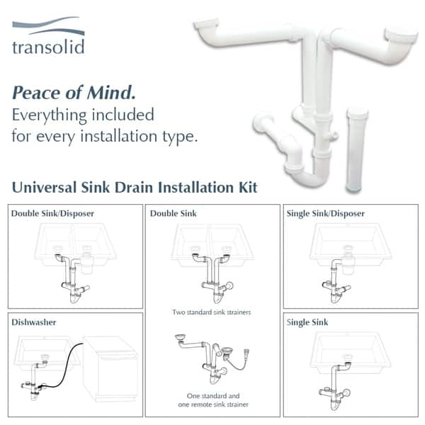 Shop Transolid Radius Granite 33 In Drop In Kitchen Sink Kit With Grids Strainers And Drain Installation Kit Overstock 29057108