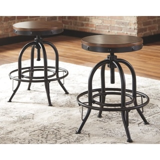 Link to Carbon Loft Lier Swivel Counter Height Stool (Set of 2) Similar Items in Dining Room & Bar Furniture